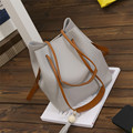 2017 Sacos de Venda Quente Bolsas Mulheres Famosas Marcas De Couro PU Borlas Ombro Saco Balde Com Embreagem bolsos femenina atacado