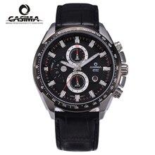 Hombres de la Marca CASIMA reloj de cuarzo de acero Inoxidable reloj de La Manera Al Aire Libre Deportes cronómetro luminoso impermeable 100 m reloj #8101