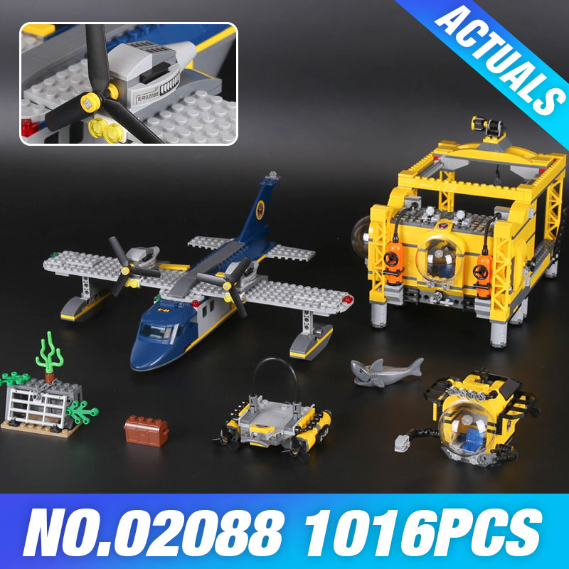 New Lepin 02088 The Deep Sea Opearation Base Set 60096 Genuine City Series Building Blocks DIY Brick For Kids New Year boys Gift цена и фото