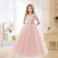New High Quality Elsa Anna Dress Girls Birthday Party Cosplay Dresses Princess 5 to 14 Years Children Kids Fever Dress 5t to 14 years kids