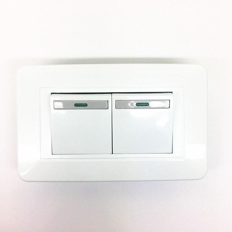 Groß Doppelschalter Licht Galerie - Elektrische ...