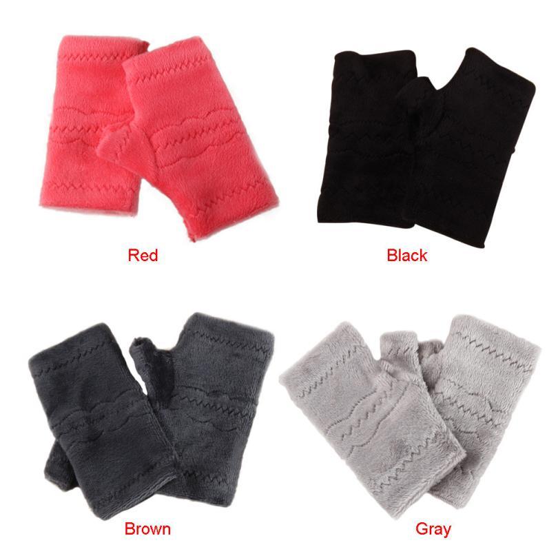 Nuevamente diseño mujeres Soft polar fleece gruesa caliente Guantes ...