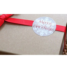 "60pcs/5 Sheets ""Merry Christmas"" Snowflake Seal Sticker Christmas Point Sticker For Party Favor Gift DIY Bag Candy Box Decor(China)"
