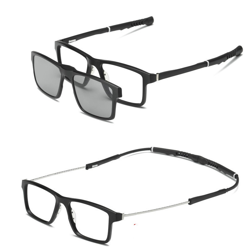 MINCL/ With the new sports men and women basketball glasses myopia 2 Sunglasses ultra light magnetic mirror frame set LXL