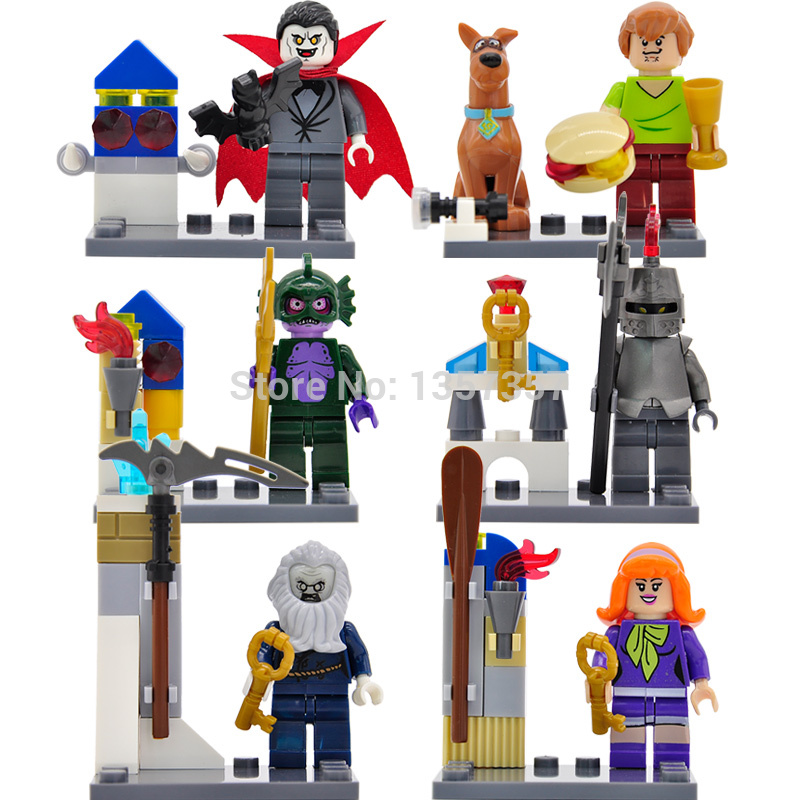 6pcs/lot Scooby Doo Figure Set Shaggy/Vampire/Daphne Building Blocks Models Legoingly Brick Toys For Children Bela 10449-10454 logitech светло зеленый
