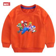 New Boys Cute Cotton Long Sleeve Pullover Tops  Talking Cat Game Boy/girl Breathable Comfort T Shirt Funny Cartoon