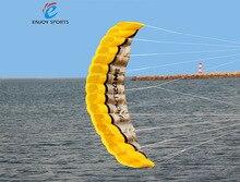 Парусный parafoil кос line радуга кайт ручкой dual линии пляж мягкие