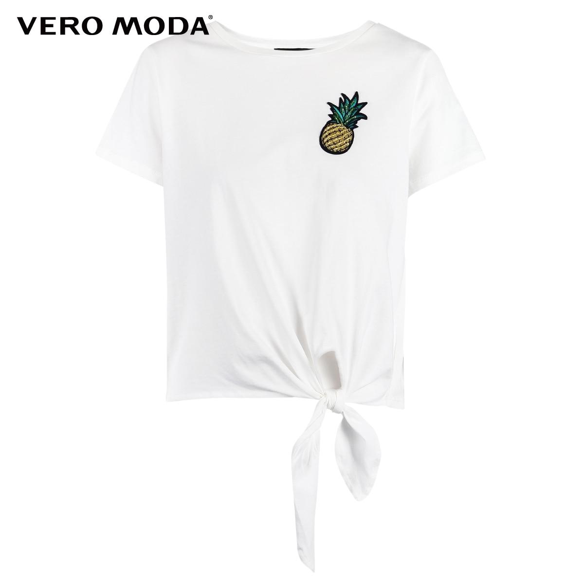 Vero Moda женское платье с вышивкой на шнуровке с круглым вырезом | 318301533