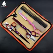 New Arrival: 6'' Hairdressing Scissors Set Purple Hair Razor Thinning Scissors Beauty Barber Cutting Shears Hair clipper Trimmer цена 2017