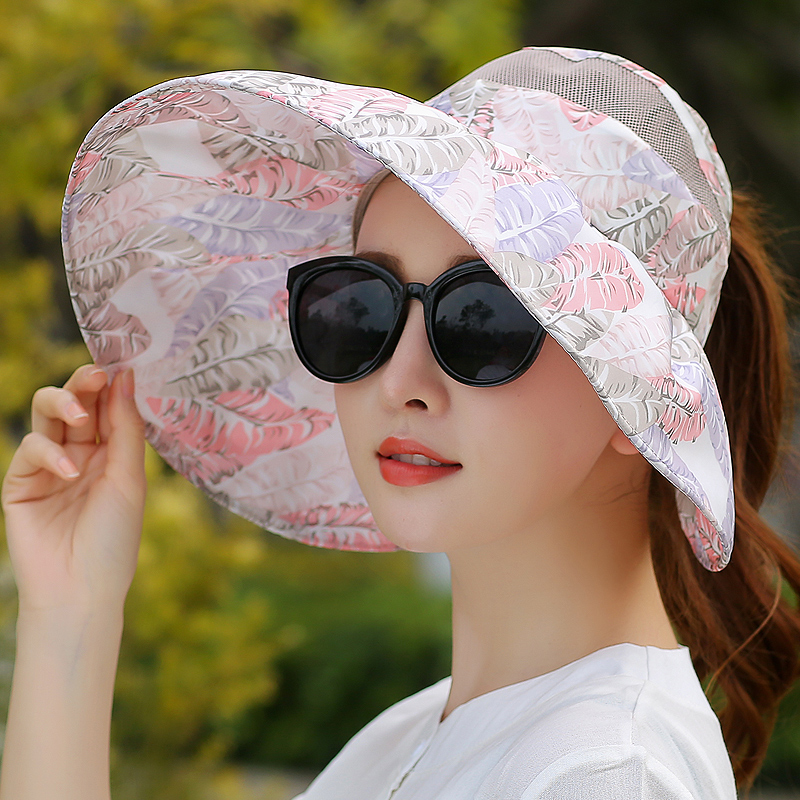 Female Summer Hat Breathable Foldable Sun Hat Anti-ultraviolet Empty Cap Hats For Summer