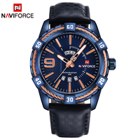 NAVIFORCE Luxury Brand Men Fashion Sports Waterproof Watches Men S Date Quartz Clock Man Leather Wrist