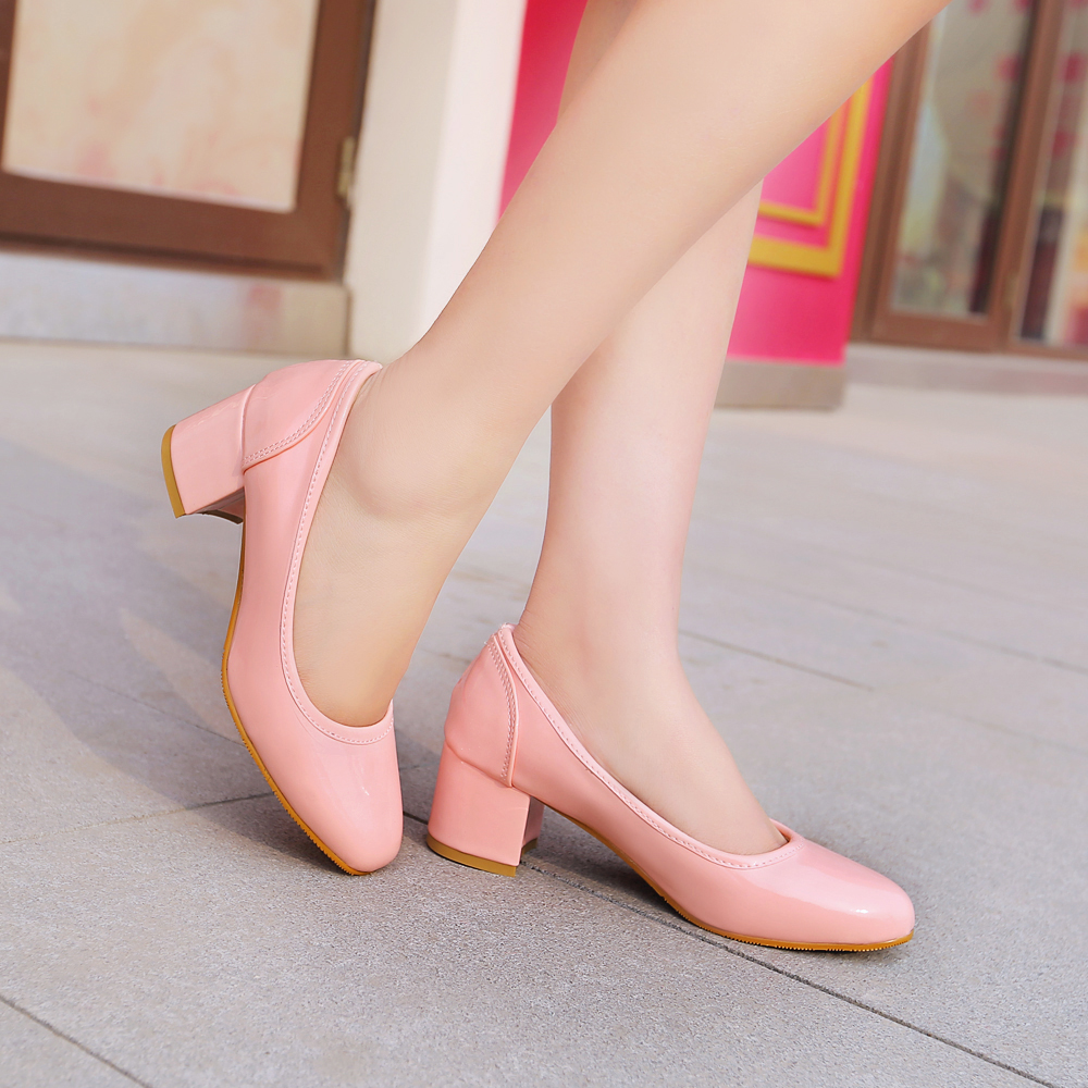 ФОТО Big Size 11 12pumps new coarse documentary shoes female high-heeled shoes joker Oxford in England coach for women's shoes