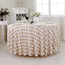 Hot Sale Tartan Plaid Round Table Cloth Garden Picnic Red Check Tablecloth on the Tablecloths For Kitchen