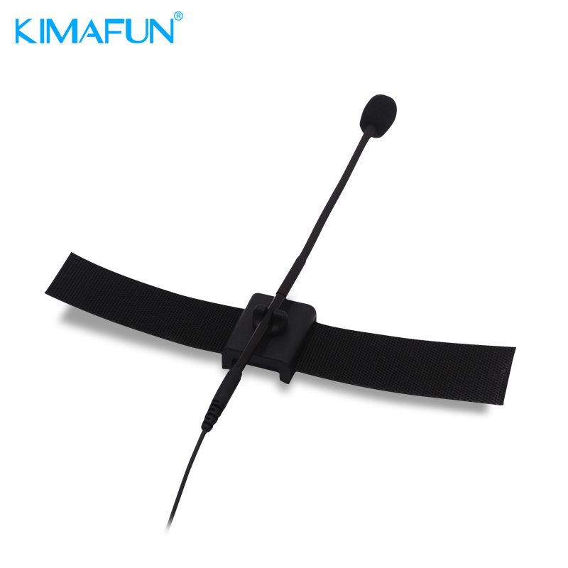 KIMAFUN CX900 Lapel Microphone Collar Pickup Microphone Wired Instrument Flute Microphone Clip for Shure Sennheiser MiPro