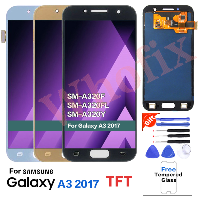 TFT For SAMSUNG A3 2017 A320 SM-A320F LCD Display Screen replacement for Samsung Galaxy SM-A320FL A320Y display lcd moduleTFT For SAMSUNG A3 2017 A320 SM-A320F LCD Display Screen replacement for Samsung Galaxy SM-A320FL A320Y display lcd module