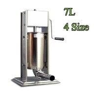 Бесплатная доставка 7L для хот догов выдавливатель для пищевых продуктов с салями maker мясо заполнить чайник инструменты для мясной промышле
