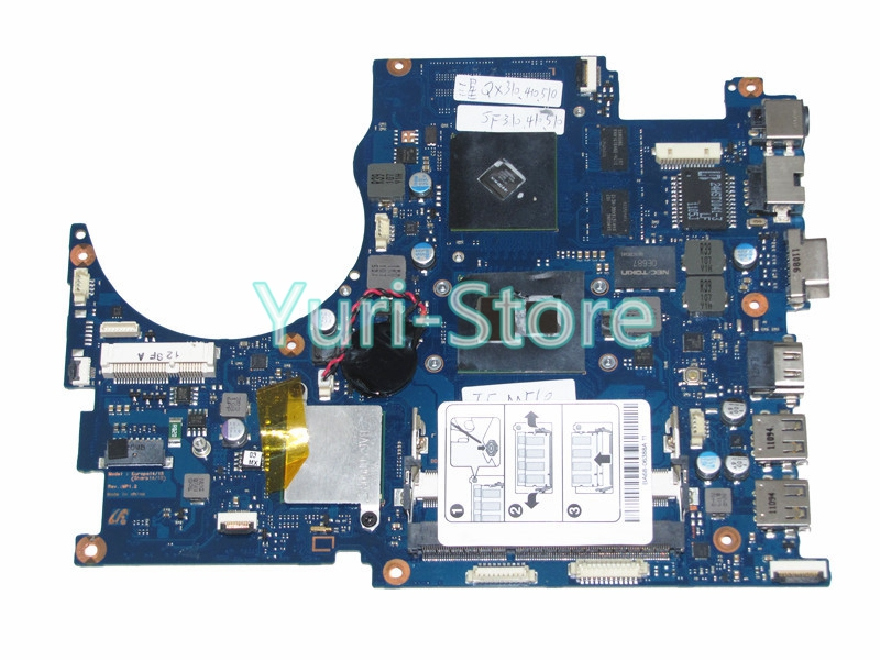 NOKOTION for samsung NP-QX410 QX510 laptop motherboard GENUINE BA92-07035B BA92-07035A core i5 with GeForce GT310M nokotion for acer aspire 5750 laptop motherboard p5we0 la 6901p mainboard mbrcg02005 mb rcg02 005 mother board