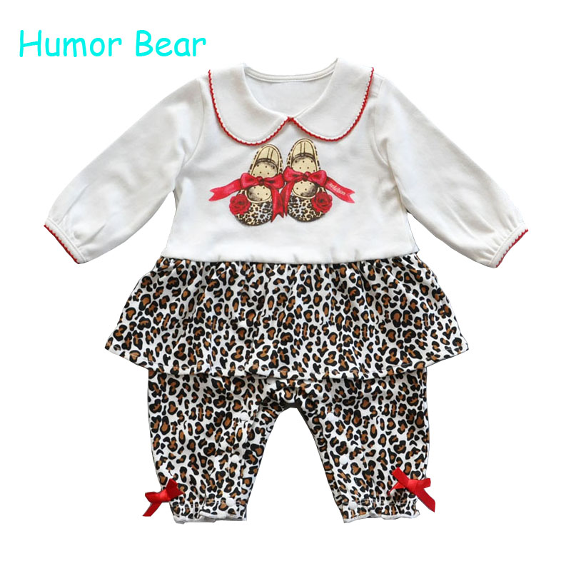 Humor Bear Christmas Baby girls clothing Rompers newborn gentleman style casual clothing long-sleeved clothes