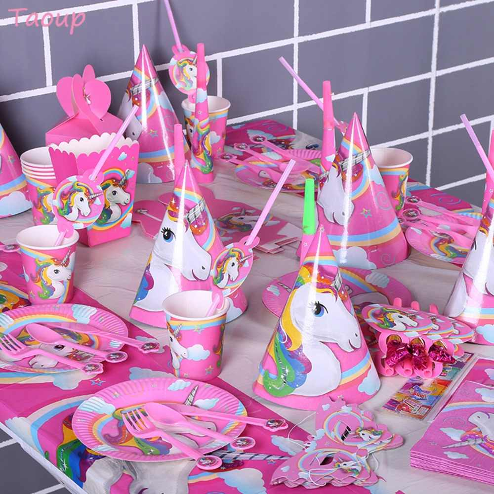 Taoup Wedding Babyshower Unicorn Cake Topper Wedding Decor For Cake Decorating Supplies Unicorn Birthday Party Decor Unicornio
