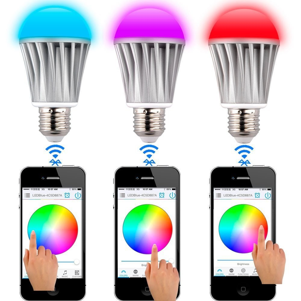 control lighting with ipad. Warm White 550 Lumen Light Bulb Bluetooth Wireless Ipad Iphone Android Cell Phone Control 7W E27-in LED Bulbs \u0026 Tubes From Lights Lighting On With
