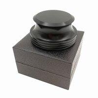레코드 무게 턴테이블 비닐 클램프 lp 디스크 안정기 블랙 마감 턴테이블 가전제품 -