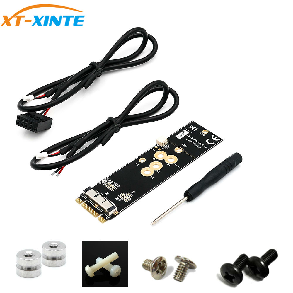 BCM94360CD BCM94360CS2 BCM943224PCIEBT2 12+6 Pin Bluetooth WiFi Wireless Card Module to M.2 NGFF Key B+M Adapter for Mac OS(China)