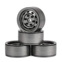 4pcs AX 618 1.9inch RC Tires Beadlock Metal Wheels Hub Rim Set for Axial SCX10 RC4WD D90 1/10 RC Car RC Model Parts&Accessories