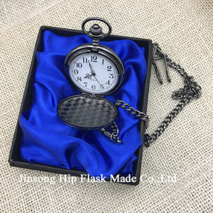 Image 3 - Dia 4.5cm Plain Chrome Pocket Watch with gift box packing BLACK / SLIVER / GOLDEN /BRONZE