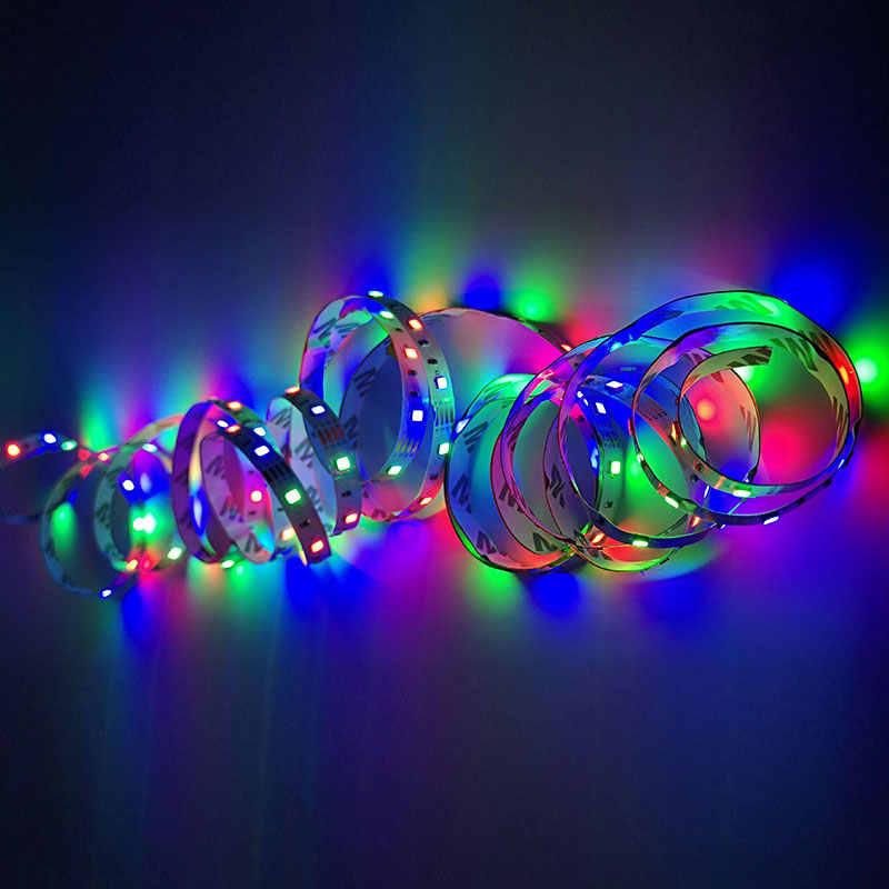 2835 5 V LED tira de luz de noche USB TV luz de fondo iluminación con IR control Escritorio PC lámpara cinta de diodo 50 cm 1, 2, 3, 4 5 m