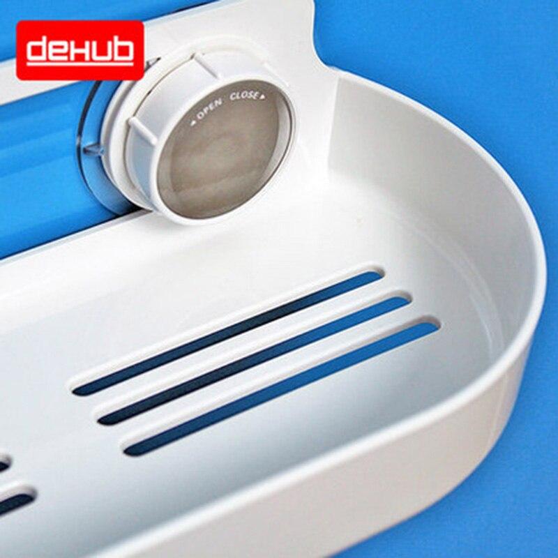 DeHUB Super Suction Cup Vægmonteret Shower Organizer Shower Rack I - Husholdningsvarer - Foto 4