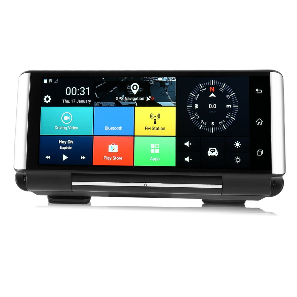 newFull HD 1080P 7 inch IPS Touch Screen Car DVR Smart Car Rear View Mirror Video Record Camera Dash Cam Bluetooth Hands-free