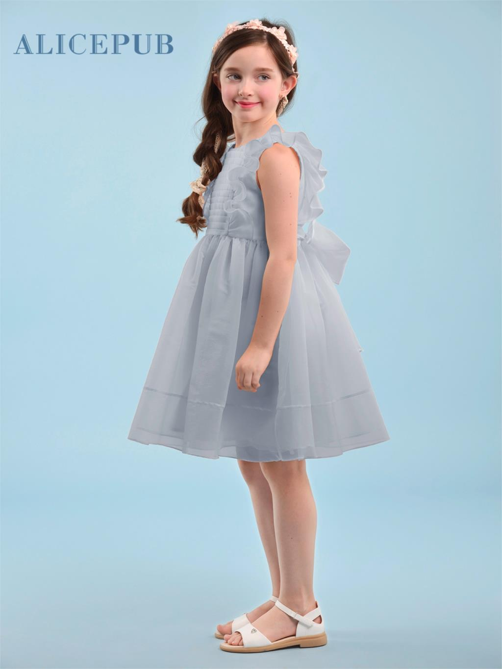 Flower Girls Dresses Prom Party Tutu Bow Birthday Graduation Dress ...