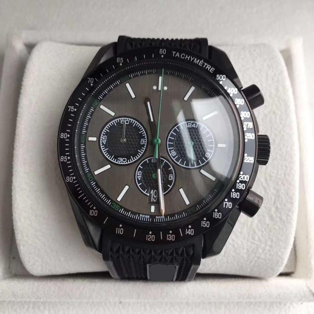 New high quality luxury mens watch speed series black sapphire dial AAA quartz chronograph rubber strap original buckle masterNew high quality luxury mens watch speed series black sapphire dial AAA quartz chronograph rubber strap original buckle master