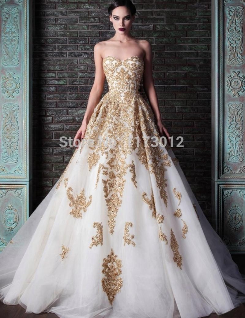 Fashion Design Rami Kadi Sweetheart Ball Gown Evening Dress Lace ...
