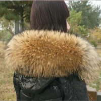 Free shipping Super deluxe raccoon wool top down jacket cap a raccoon coat collar fox fur collar Female scarves fur collar