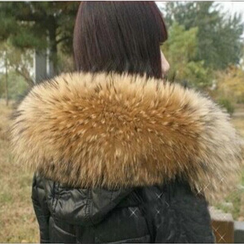 Livraison gratuite Super deluxe raton laveur laine haut vers le bas veste cap a raton laveur manteau col de fourrure de renard col femelle écharpes col de fourrure
