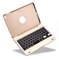 Wireless Bluetooth Keyboard Case,Protective iPad Case Stand & Wireless Keyboard w/ Rechargeable Battery for iPad Mini 4,3,2,1