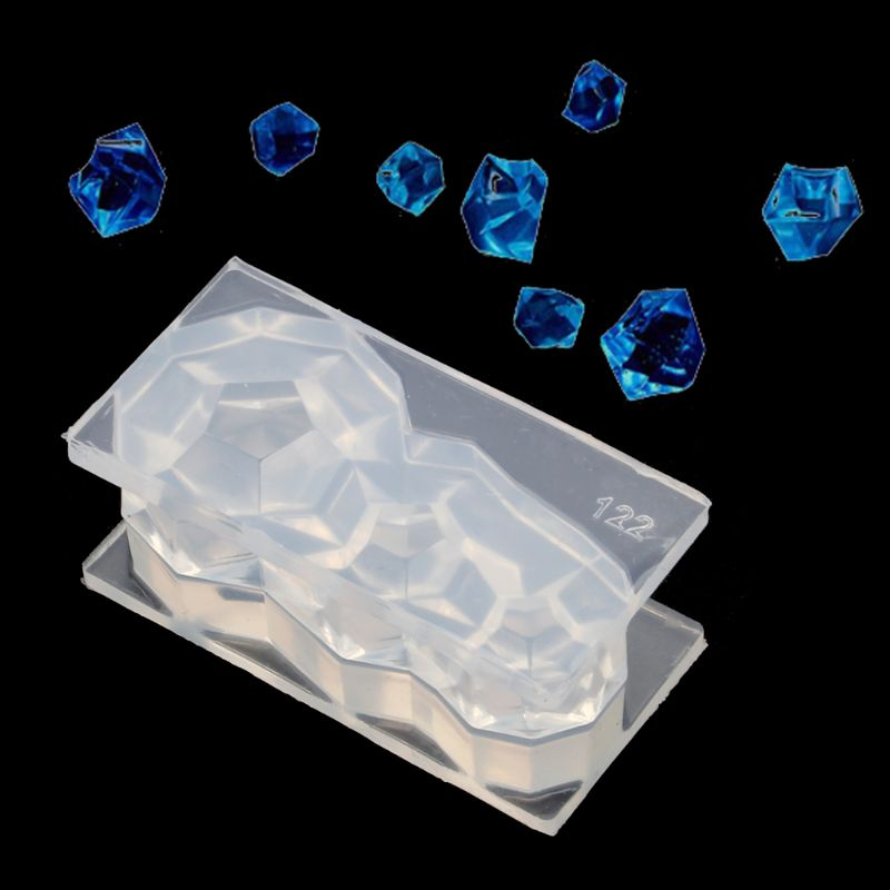 12 Faceted Diamond Silicone UV Resin Molds Earring Pendant Necklace Jewelry Tools DIY Making Finding Accessories