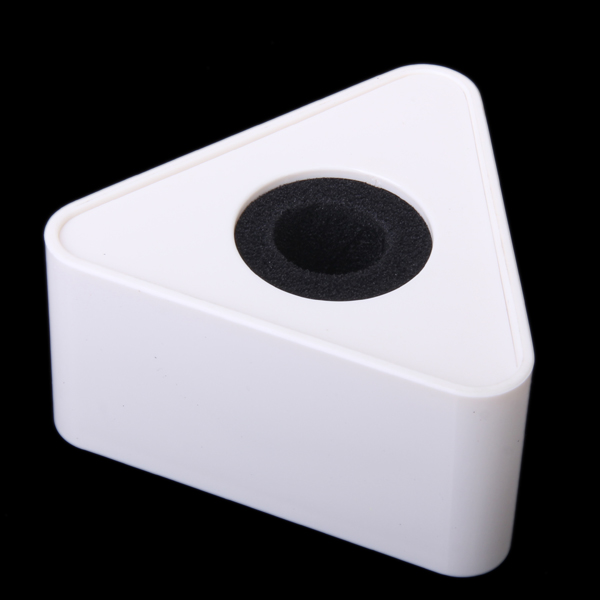 White ABS Triangular Microphone Station For Interview Self image Improve in Electric Instrument Parts Accessories from Sports Entertainment