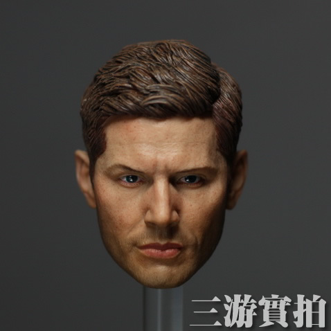 "Model New 1/6 Scale Motion Determine Equipment Supernatural Dean Winchester (Jensen Ackles) Head Sculpt For 12"" Determine Mannequin Toy"