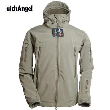 Army Military Tactical Jacket Men Soft Shell Waterproof Windproof Man Jacket Coat Hunter Camouflage Hoody Jacket - DISCOUNT ITEM  19% OFF All Category