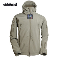 Army Military Tactical Jacket Men Soft Shell Waterproof Windproof Man Jacket Coat Hunter Camouflage Hoody Jacket