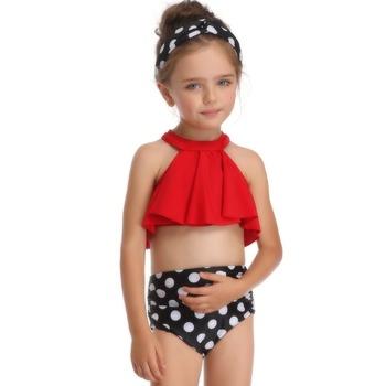 Dwa kawałki stroje kąpielowe stroje kąpielowe stroje kąpielowe dla dziewczynek bikini Set ławki strój kąpielowy lato pływanie piękny tanie i dobre opinie Pływać NYLON spandex Dziewczyny Stałe YXZ190124 Pasuje prawda na wymiar weź swój normalny rozmiar CEECGDEC