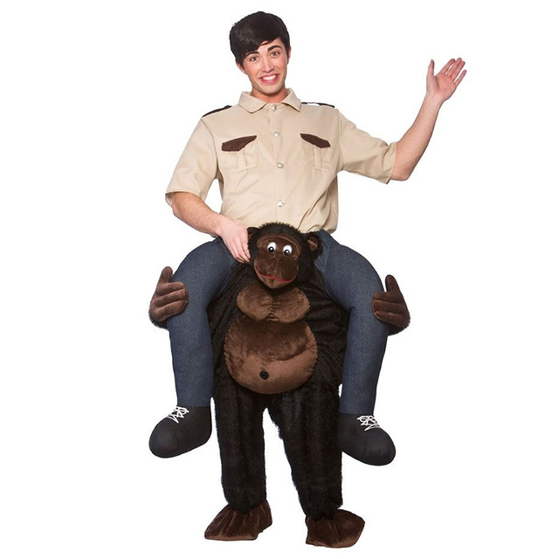 Giant Gorilla Ride-on Animal Costumes Christmas Make-up Party Monkey Cosplay Clothes Carnival Adult Dress Up Horse Riding Toys ...