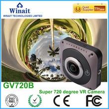 ดีเอชแอฟรีเรือใหม่GV720Bกล้องวีดีโอ360 VRกล้อง1088×1024วิดีโอWifiและ2600มิลลิแอมป์ชั่วโมงแบตเตอรี่ลิเธียม220ปริญญาปลาตาเลนส์
