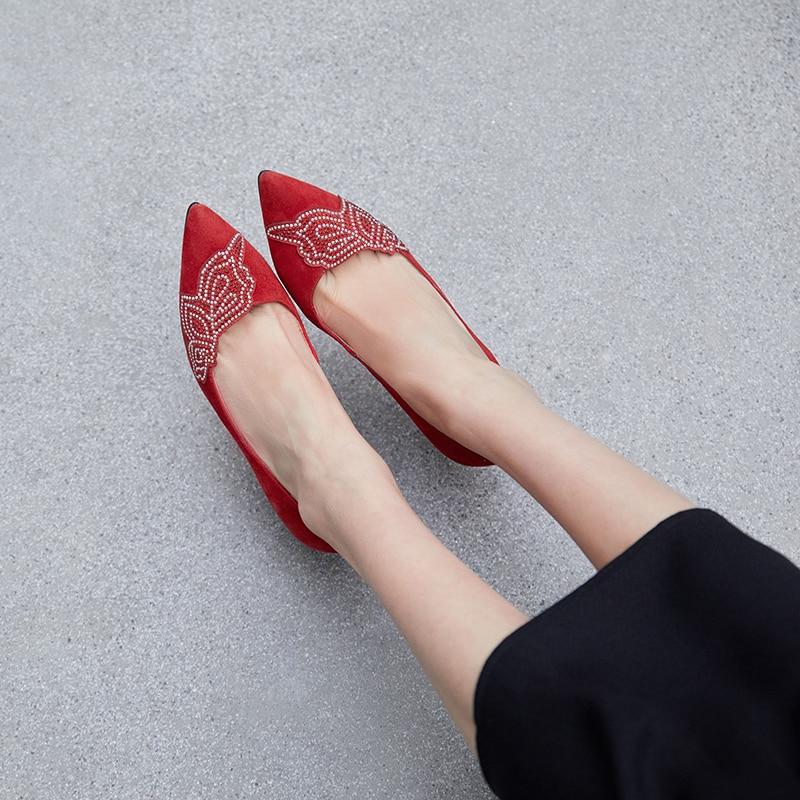 Talons rouge 34 40 Automne Profonde Noir D798 Noir Femmes Bout Pompes Taille Bal Cristal Dames Printemps Chaussures De Grande Travail Haute Pointu Peu ZqBwqUp