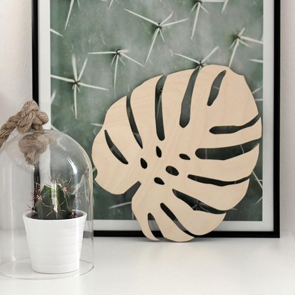 Nordic Style Hollow Wooden Leaf Ornament Modern Home Kids Bedroom Decoration Fashion