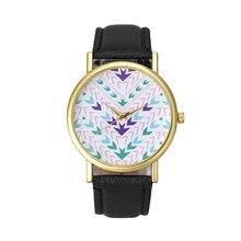 Дешевые 2016New Дизайн Мода Леди Женщины Кварцевые Ацтеков Племенных Pattern Кожа Наручные Часы Relógio Feminino Новый Бренд Горячие Продаж