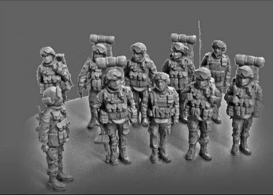 1:72 Resin Figures Soldiers Model Kit (10pcs/lot) Unpainted XD277