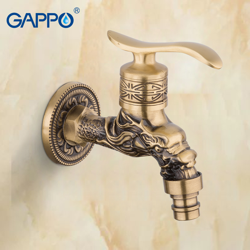 GAPPO Basin Tap grifos Bibcocks Antique Brass Wall Mounted basin Faucet garden sink tap Single Cold Outdoor FaucetsGAPPO Basin Tap grifos Bibcocks Antique Brass Wall Mounted basin Faucet garden sink tap Single Cold Outdoor Faucets